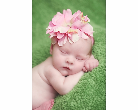 Flowerette Burst Headband in Candy Pink Peony