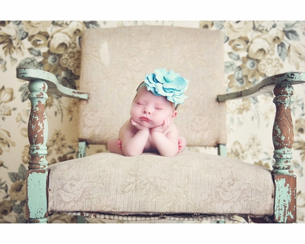 Flowerette Burst Headband in Teal Rose