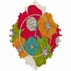 Flowers Baroque Wall Clock
