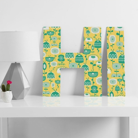Flowers In A Sunny Garden Decorative Letters