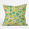 Flowers In A Sunny Garden Throw Pillow