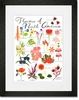 Flowers of North America Framed Art Print