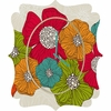 Flowers Quatrefoil Wall Clock