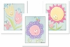 Flowers Set Framed Canvas Reproduction - Set of 3