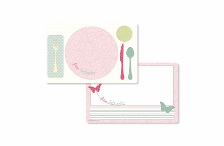 Flutterby Personalized Kids Reversible Placemat