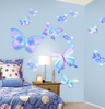 Fluttering Butterfly Peel and Stick Wall Mural in Summertime Blue