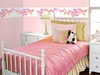 Fluttering Butterfly Wall Mural Border in Springtime Pink