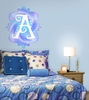 Fluttering Monogram Peel and Stick Wall Mural in Summertime Blue