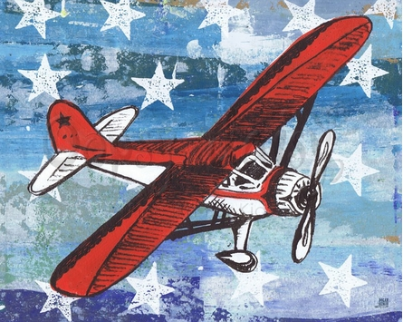Fly America Canvas Wall Art