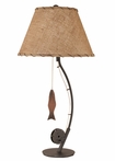 Fly Fishing Pole Table Lamp