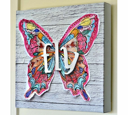 Fly Wings Canvas Wall Art