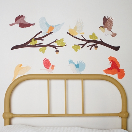 Flying Twitters Earthy Fabric Wall Decals