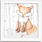 Flynn Fox Framed Canvas Reproduction