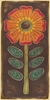 Folklore Flower - Orange Canvas Wall Art