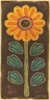 Folklore Flower - Yellow Canvas Wall Art