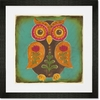 Folklore Owl - Orange Framed Art Print