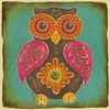 Folklore Owl - Pink Canvas Wall Art
