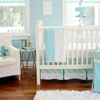 Follow Your Arrow in Aqua Crib Bedding Set