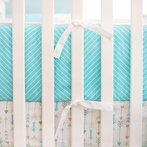 Follow Your Arrow in Aqua Crib Bumper