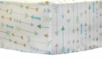 Follow Your Arrow in Aqua Crib Sheet