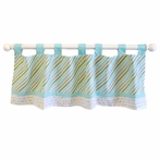 Follow Your Arrow in Aqua Window Valance