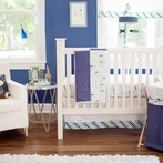Follow Your Arrow in Navy Crib Bedding Set
