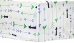 Follow Your Arrow in Navy Crib Sheet