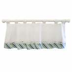 Follow Your Arrow in Navy Curtain Valance
