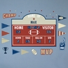 Football Athlete Scoreboard Peel & Place Wall Stickers