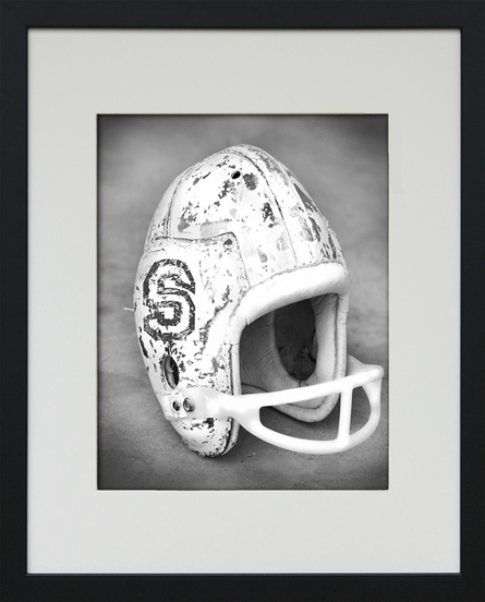 Football Helmet Personalized Framed Art Print