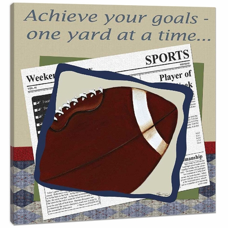 Football in the News Canvas Reproduction