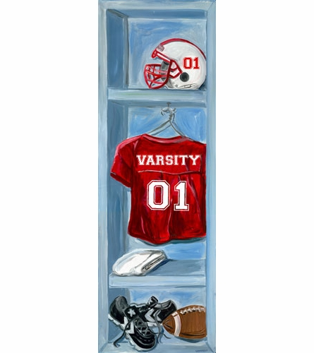 Football Lockers Canvas Wall Art