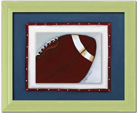 Football Personalized Framed Canvas Reproduction