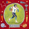 Football Star - Boy Canvas Wall Art