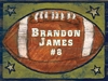 Football Star Vintage Wood Sign