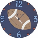 Football Wall Clock - Navy