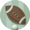 Football Wall Peg - Set of Two