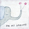 For My Darling Small Vintage Art Print on Wood