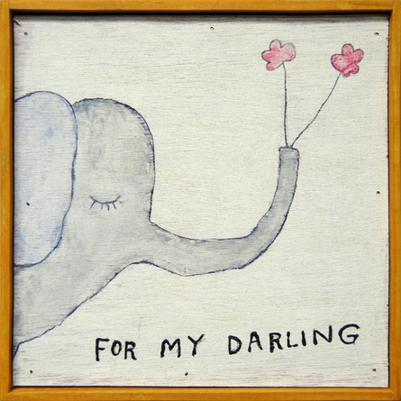 For My Darling Vintage Framed Little Art Print
