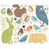 Forest Critters Earthy Fabric Wall Decals