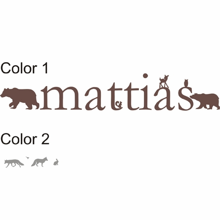 Forest Critters Personalized Wall Decal