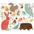Forest Critters Retro Fabric Wall Decals