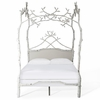 Forest Dreams Canopy Bed with Upholstered Headboard