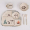 Forest Feast 5 Piece Bamboo Dinner Set