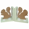 Forest Green Squirrel Bookends