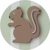 Forest Green Squirrel Drawer Knob