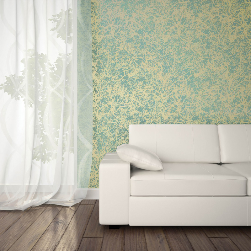 forest ocean gold removable wallpaper by tempaper