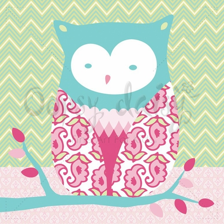 Forest Owl Canvas Wall Art