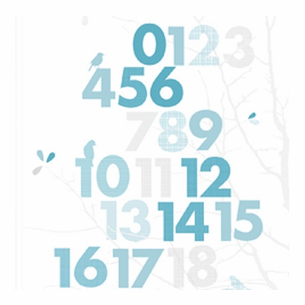 Forrest Numbers Wall Art