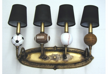 Four-Arm Sports Wall Sconce